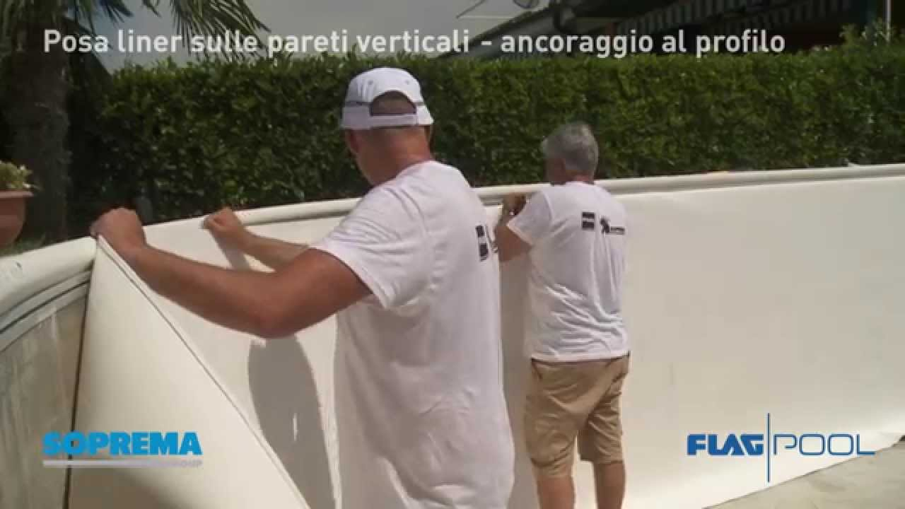 Flagpool cap 2 posa liner pareti verticali piscina for Bordi per piscine prezzi