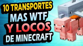 ✅ 10 Transportes LOCOS de Minecraft Que Puedes Hacer!