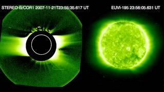 Coronal jet near the Sun's north pole