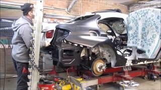BMW 3.  Body repair. Ремонт кузова.(The quarter panel replacement and front repair. Замена заднего крыла и ремонт переда., 2017-01-15T18:37:33.000Z)