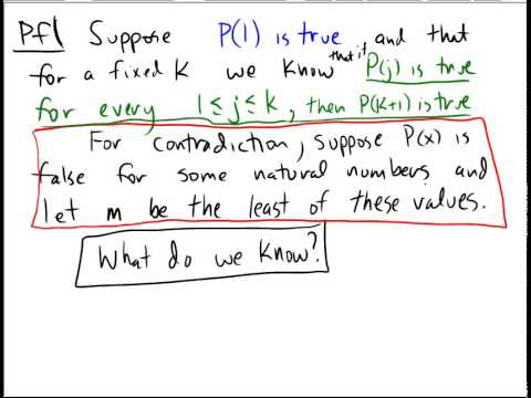 Proof of the Principle of Strong Induction - YouTube