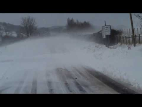 March 23, 2013: Blowing Snow Near Thornhill, Dumfries and Galloway