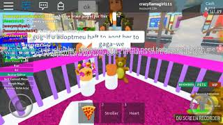 Baby pea in roblox adopt and rise a cute kid :D (fail) (laggy) username:crazyllamagirl111