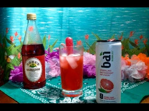 Bai Bubbles Antioxidant Beverage, Review, Info, Soft Spoken, Poured Over Ice, Tapping, ASMR