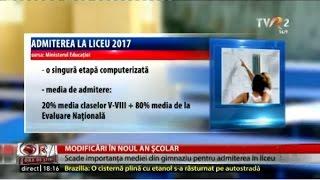 Dezbatere Ora de Ştiri: Modificări pentru anul şcolar 2016 - 2017