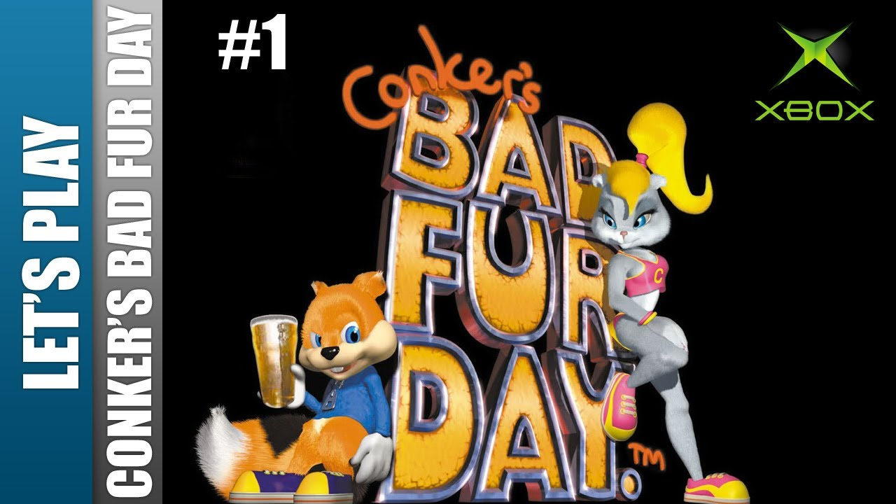 how to get through lasers in conkeers bad fur day