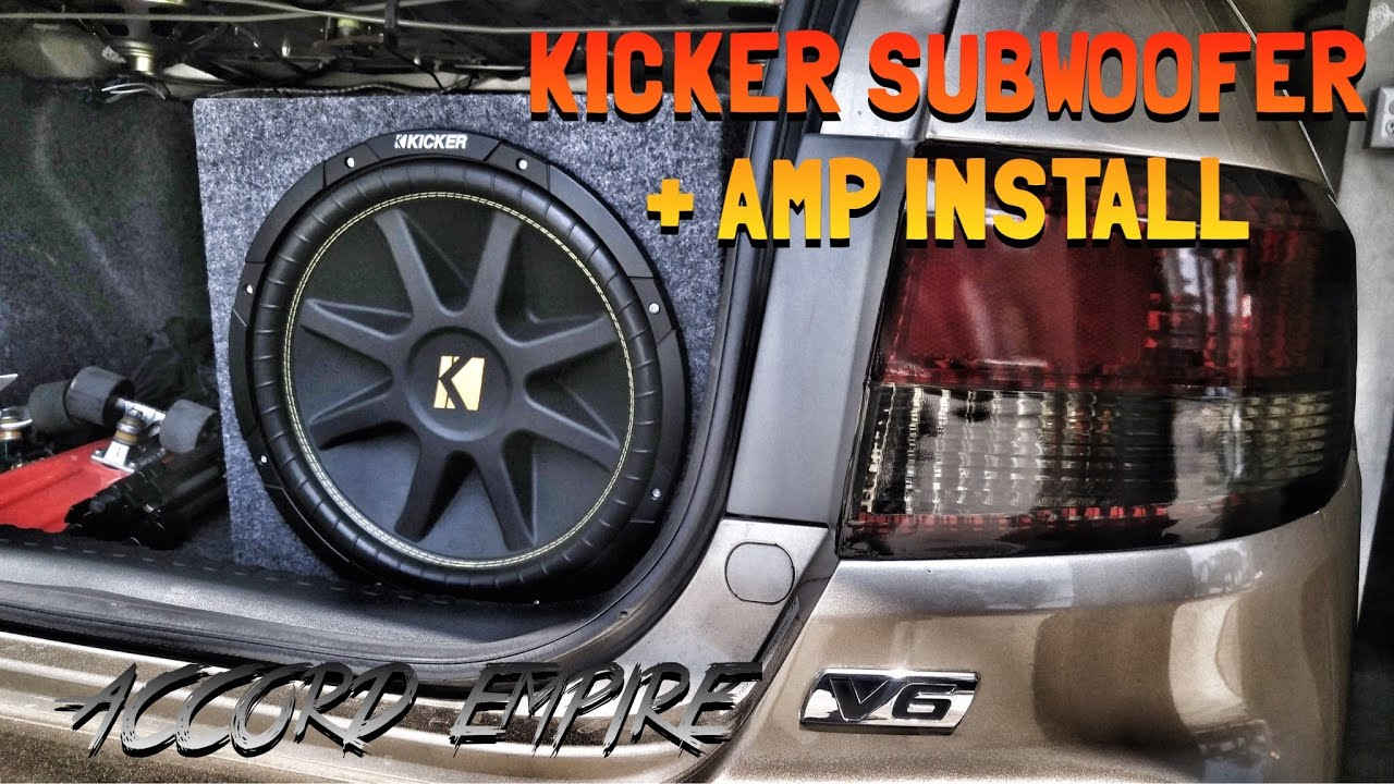 Kicker Subwoofer + Amp Install on Honda Accord - Episode 5 - YouTube