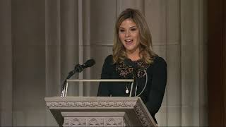 Bush's granddaughter reads from Bible at funeral