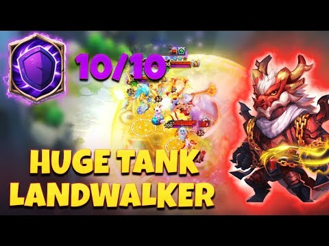 NEW* LandWalker | Full Tank Build | Maxed New Talent 10/10 CASTLE CLASH