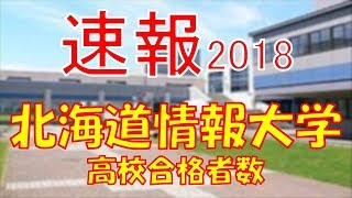【速報】北海道情報大学 2018年(平成30年) 合格者数高校別ランキング