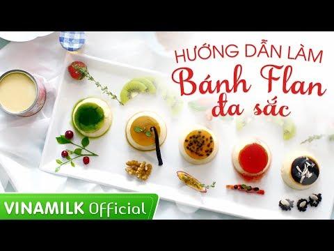 """Sữa đặc Ông Thọ Vinamilk - Hướng dẫn làm """"Bánh flan đa sắc – gắn chặt tình yêu"""""""