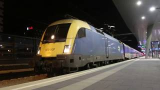 ハンガリー国鉄1047型機関車(シーメンスVVVF)ウィーン中央駅発車