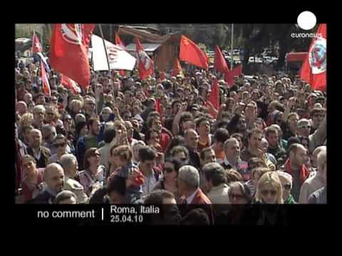 Italy Liberation Day demo