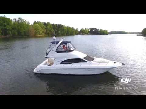 """One of a Kind"" 2005 Sea Ray 420 Sedan Bridge drone running video iDeal Yachts"