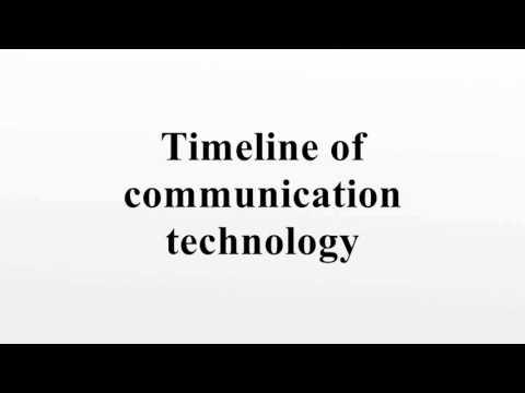 Timeline Of Communication Technology