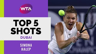 Simona Halep | Top 5 Shots | Dubai 2020