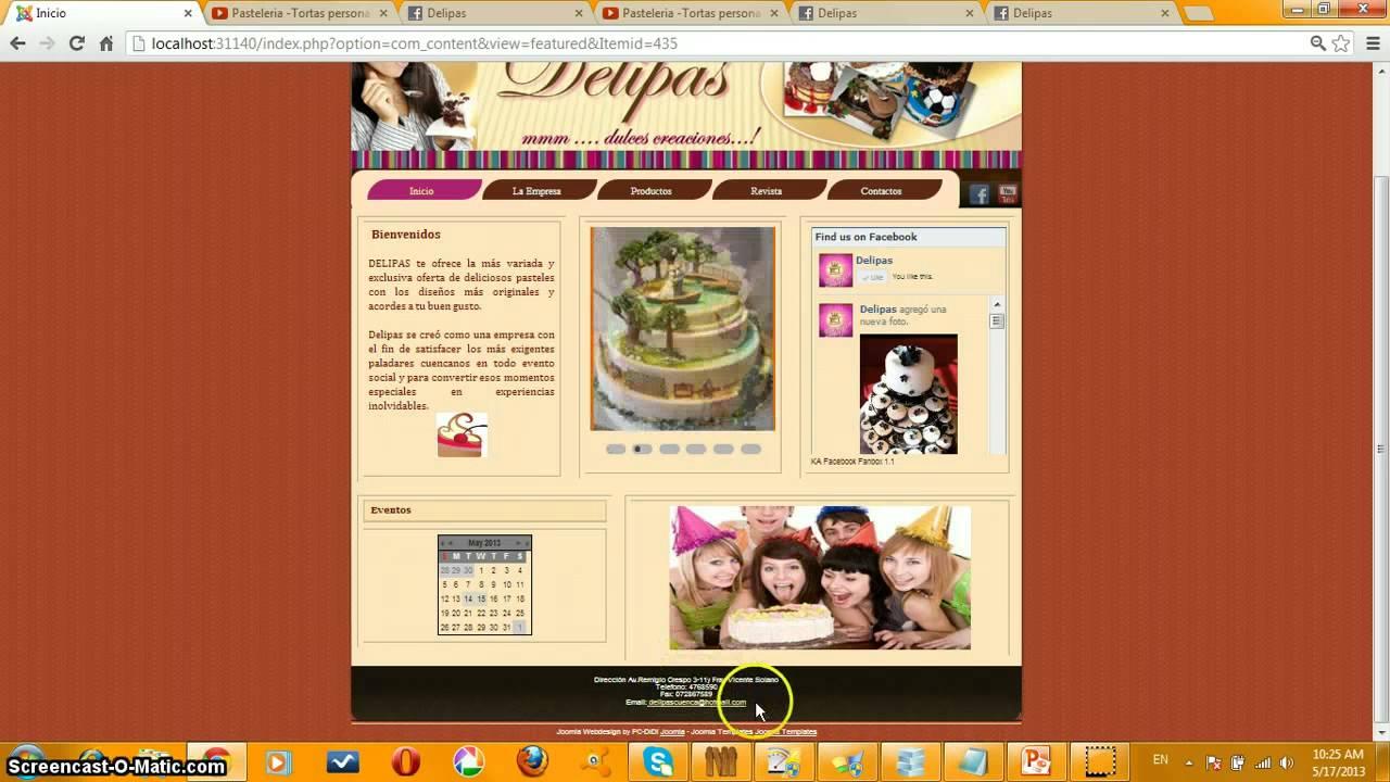 Página Web De Exploracionazul: Funcionalidad De La Pagina Web De Una PASTELERIA