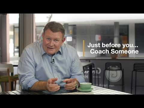 Just Before You ... Meet Up to Coach a Person