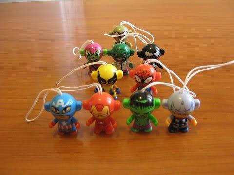 Kinder Surprise - Marvel - коллекция игрушек-супергероев. Игрушки для мальчиков.