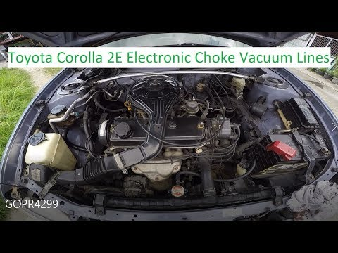 Toyota Corolla 2E Electronic Choke Carburetor Vacuum Lines