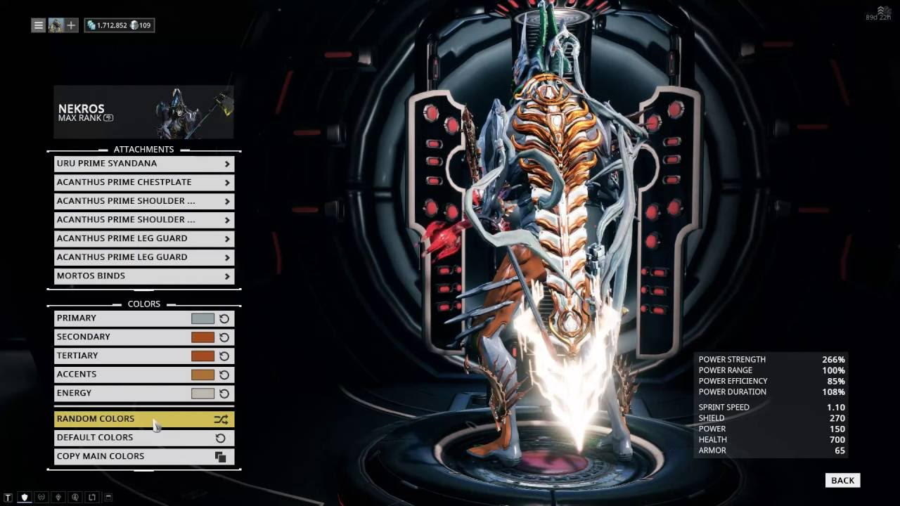 Warframe Nekros Drone Fest Do you want to reset the current build and lose all the modifications ? drone fest
