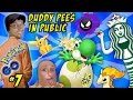 POKEMON GO Pee in Public? Yoshi Egg? Starbucks Trainer? Pikachu Trick + AYCE Krabby? (FGTEEV Part 7)