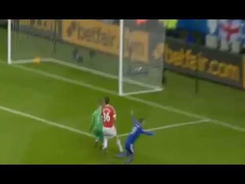 Jamie Vardy Goal   Leicester City vs Manchester United 1 0 28/11/2015