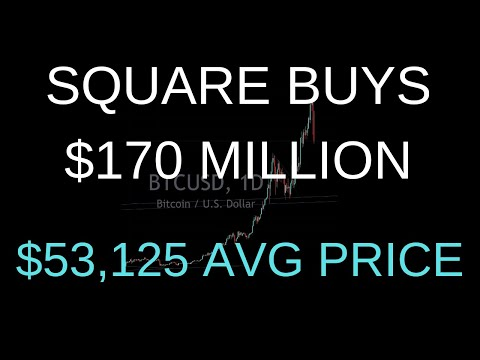 Pay Attention Square Buys $170,000 Million Bitcoin AVG Entry Price $53,125