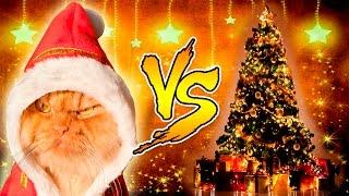 Смешные Кошки и Новогодние Елки - Кошки против Новогодних Елок