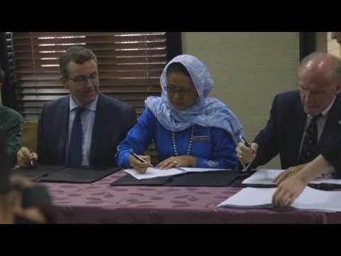 UNMC Signs Partnership Agreement - Bangladesh College Education Development Project