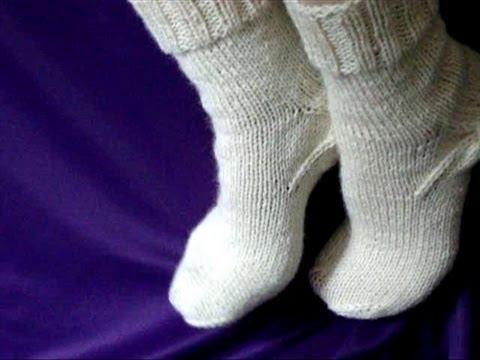 Как вязать носки спицами - How
