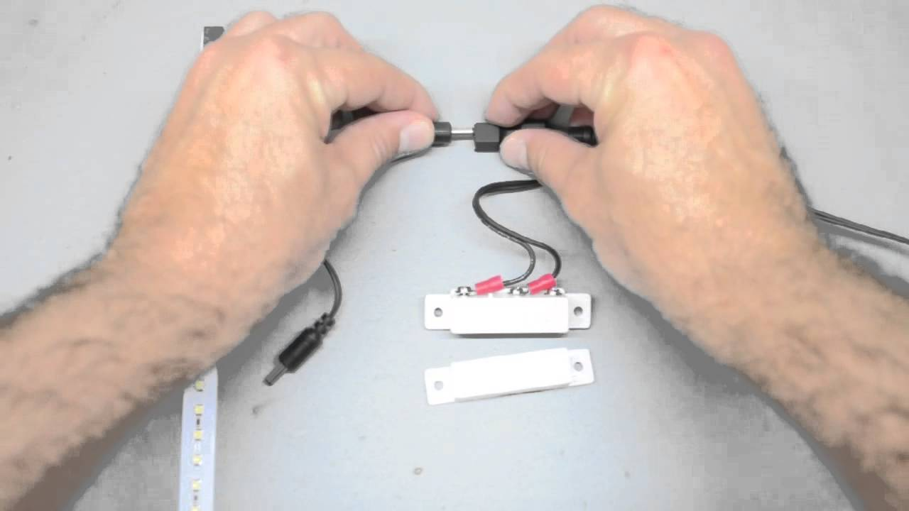 How To Install A Magnetic Switch For Led Lighting In Cabinets And Do I Wire Two Garage Door Open Close Stop Switches Drawers Inspired Youtube