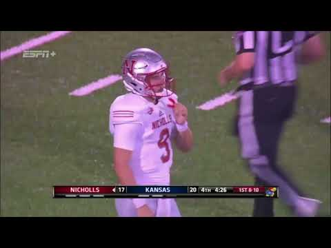 2018 Nicholls Football: Colonels at Kansas