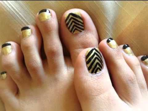 Easy DIY toe nail art designs - Easy DIY Toe Nail Art Designs - YouTube
