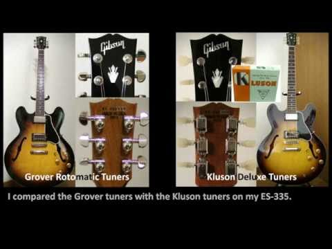 grover rotomatic tuners vs kluson deluxe tuners youtube. Black Bedroom Furniture Sets. Home Design Ideas