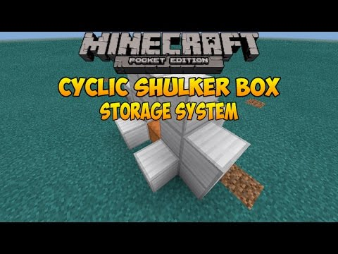 how to make shulker box in minecraft pe