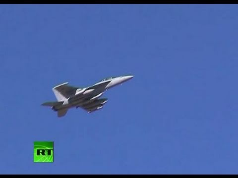 Heading for Libya: Video of jets loaded with weapons at US military base