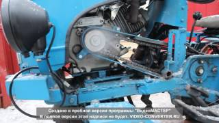 Самодельный минитрактор. КСТ мини. Курский самодельный трактор мини.