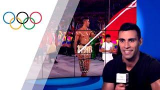 Pita Taufatofua commentates on the Rio Opening Ceremony | Take the Mic
