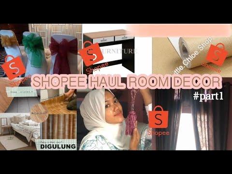 #part 1 - shopee haul room decor | dekorasi kamar murah
