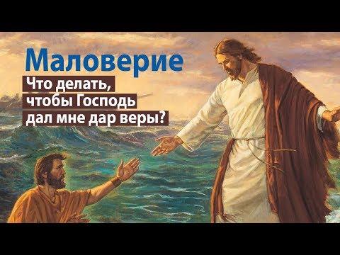 Маловерие: что делать, чтобы Господь дал мне дар веры?