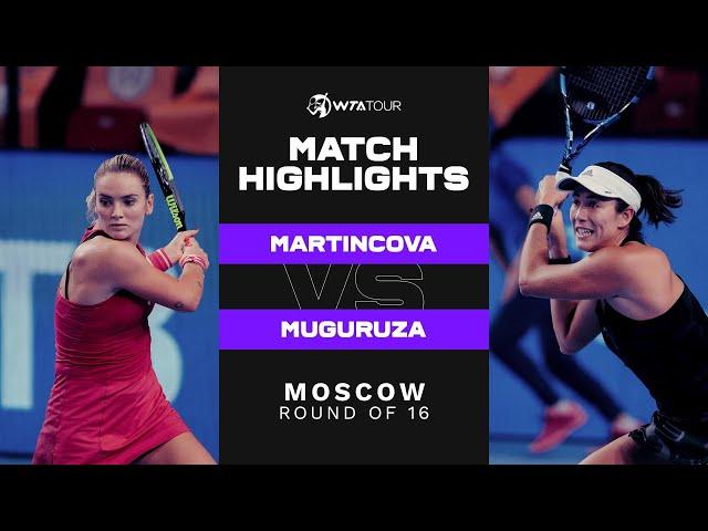 Tereza Martincova vs. Garbiñe Muguruza  | 2021 Moscow Round of 16 | WTA Match Highlights