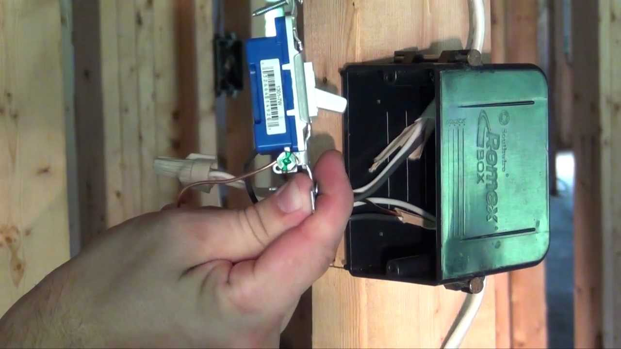 How to Install a Light Switch - YouTube