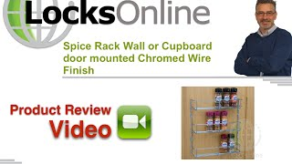 Spice Rack Wall Or Cupboard Door Mounted Chromed Wire Finish   Locksonline Product Review