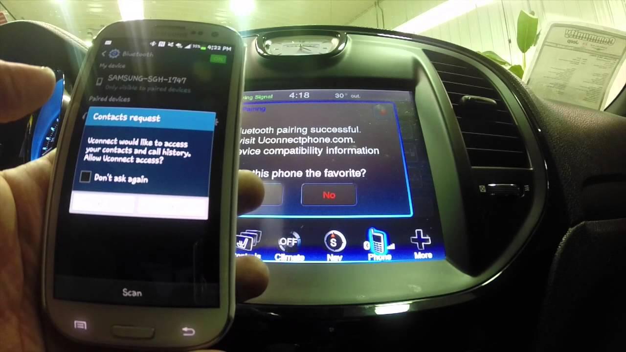 Chrysler 200: List Paired Mobile Phone Names