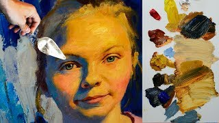 How to paint a portrait in oils? Tutorial by MFA Sergey Gusev.