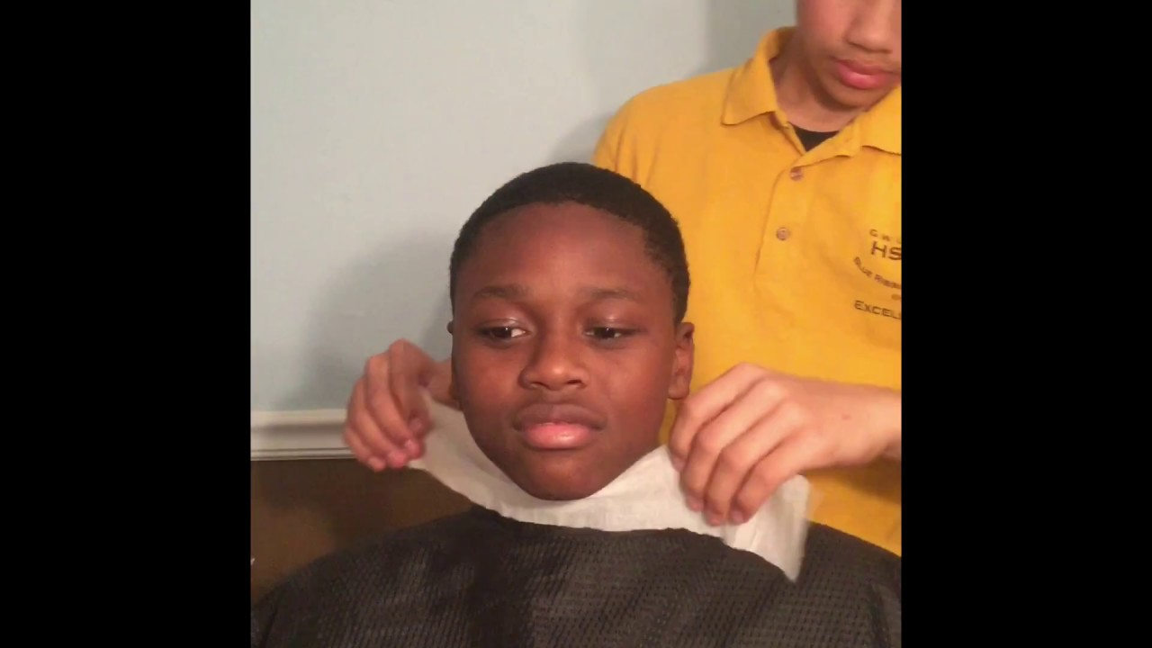 14 YEAR OLD BARBER DOES A CUT