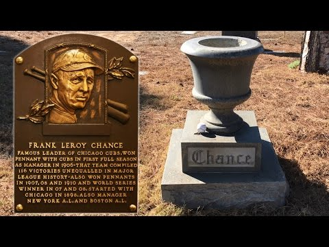The Grave of Frank Chance - Manager Chicago Cubs' 1907-08 World Series