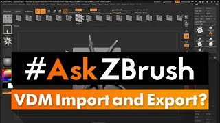 """#AskZBrush: """"How can I import and export Vector Displacement Maps for sculpting?"""""""