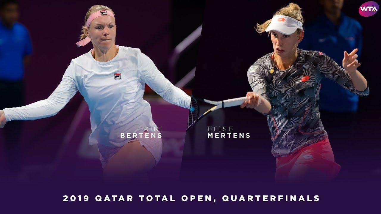 Kiki Bertens vs. Elise Mertens | 2019 Qatar Total Open Quarterfinal | WTA Highlights